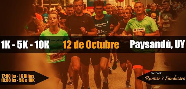 10k 5k 1k en Paysandú de Runner´s Sanducero (Paysandú, 12/oct/2019)
