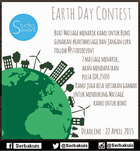 Kuis Earth Day Contest Berhadiah Pulsa