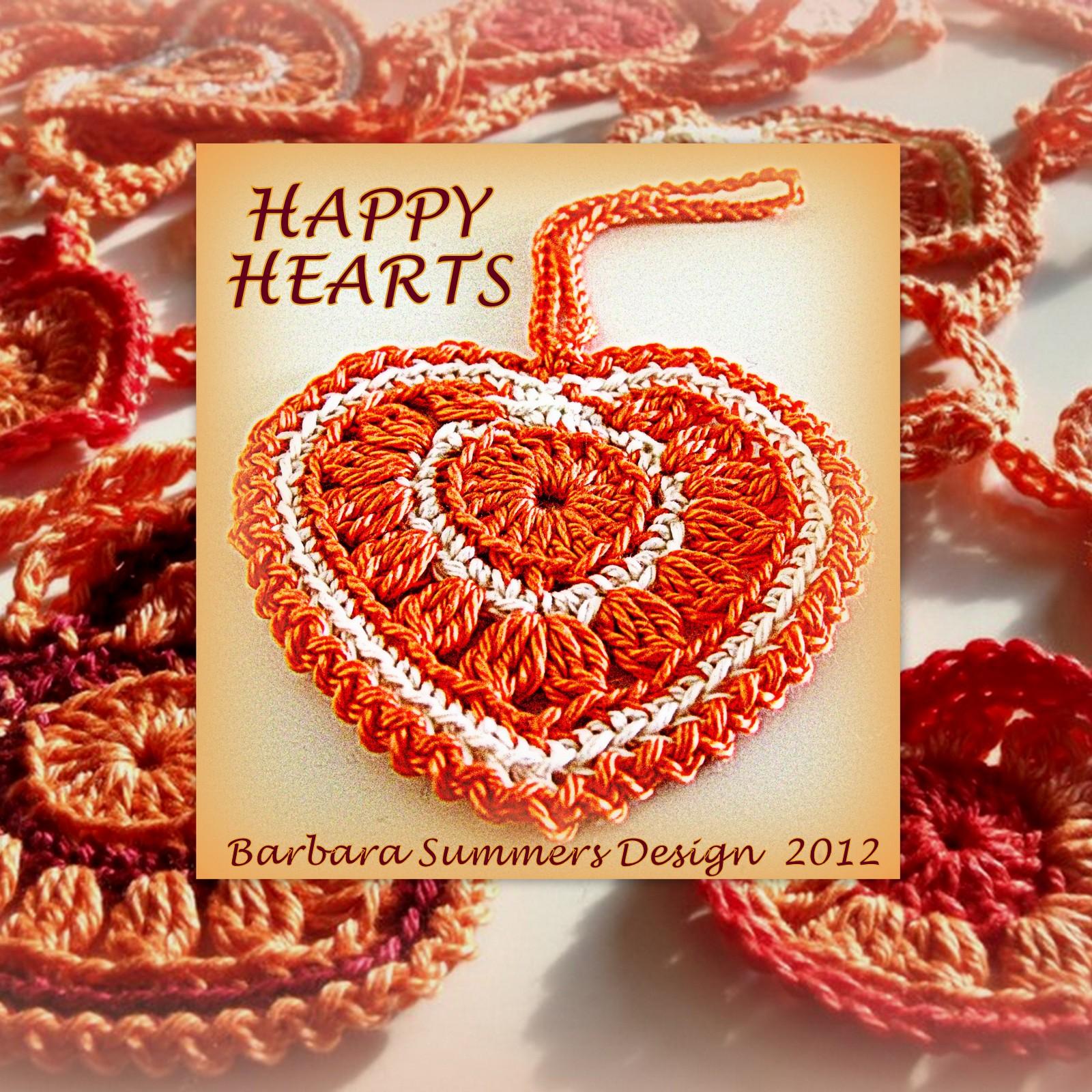 Microcknit Creations Happy Crochet Hearts Free Pattern