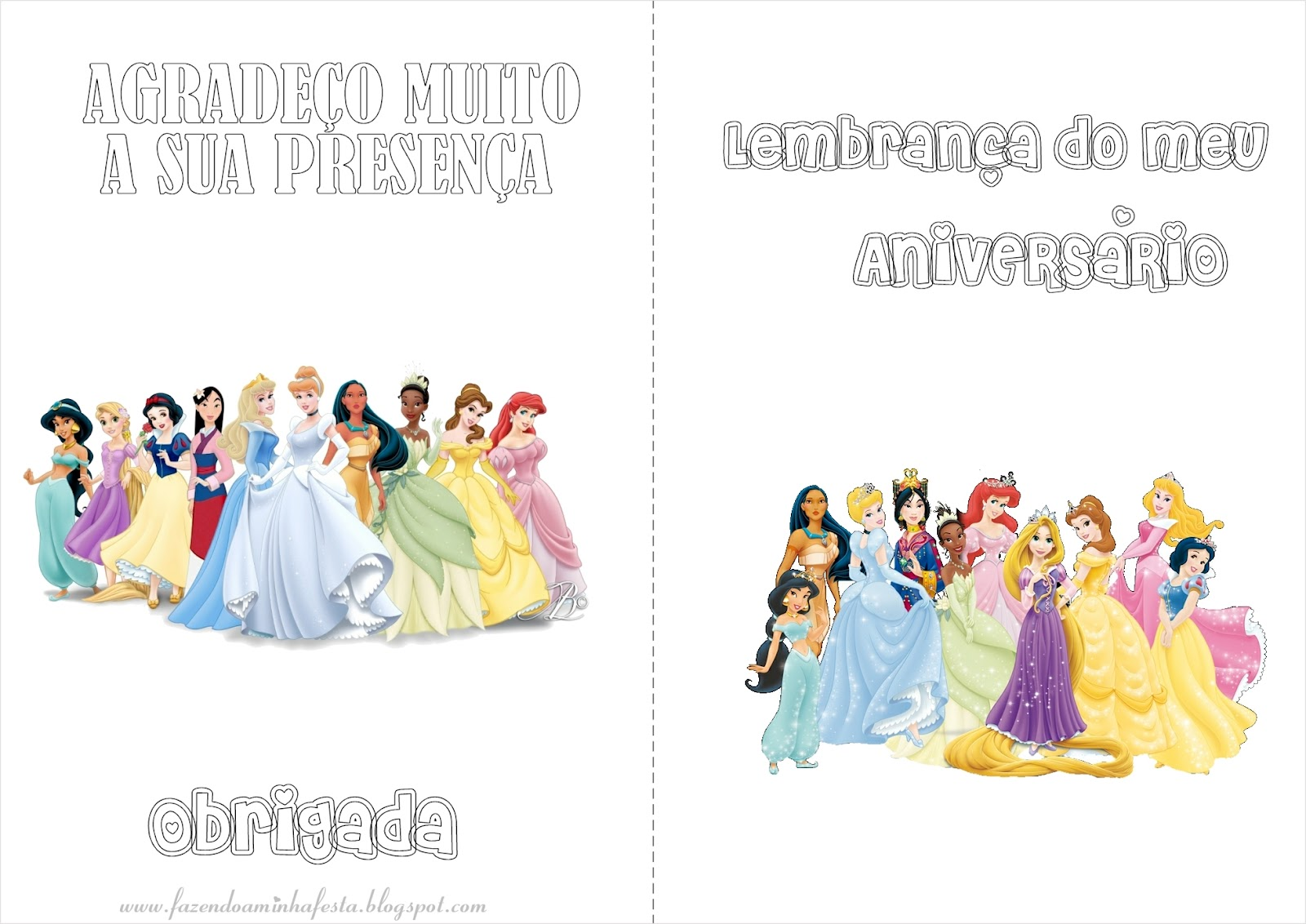 Colorir: Princesas Disney