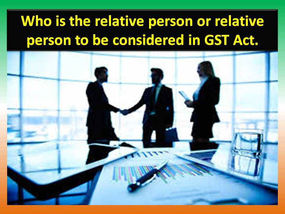 Gst In English Language Definition Of Relative Person In