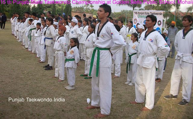 15th Punjab State Taekwondo Championship 2013, Mohali, just before the prize distribution, under the supervision of Master Er. Satpal Singh Rehal, Garhshankar, Kot Maira, Hoshiarpur, Jalandhar, Amritsar, Pathankot, Gurdaspur, Ludhiana, Moga, Ferozepur, Patiala, Mohali near Chandigarh, India, Tkd Martial Art Korean karate Tkd Training Classes, Academy, Association, Federation