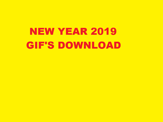 Happy New year 2019 GIF's Free Download - Finfowe