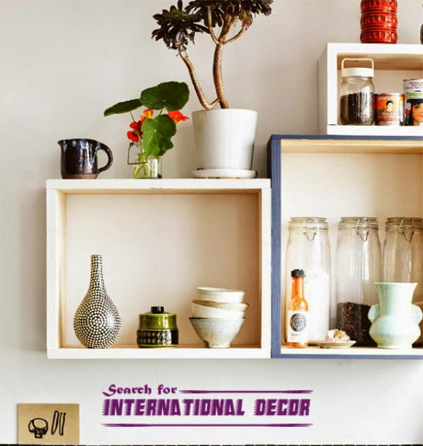 Recycle Drawers Rustic Shelves For Kitchen