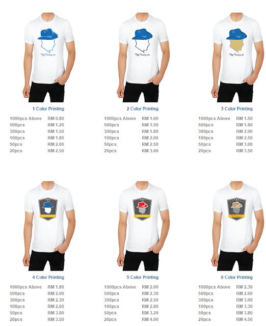 Printing Tshirt murah