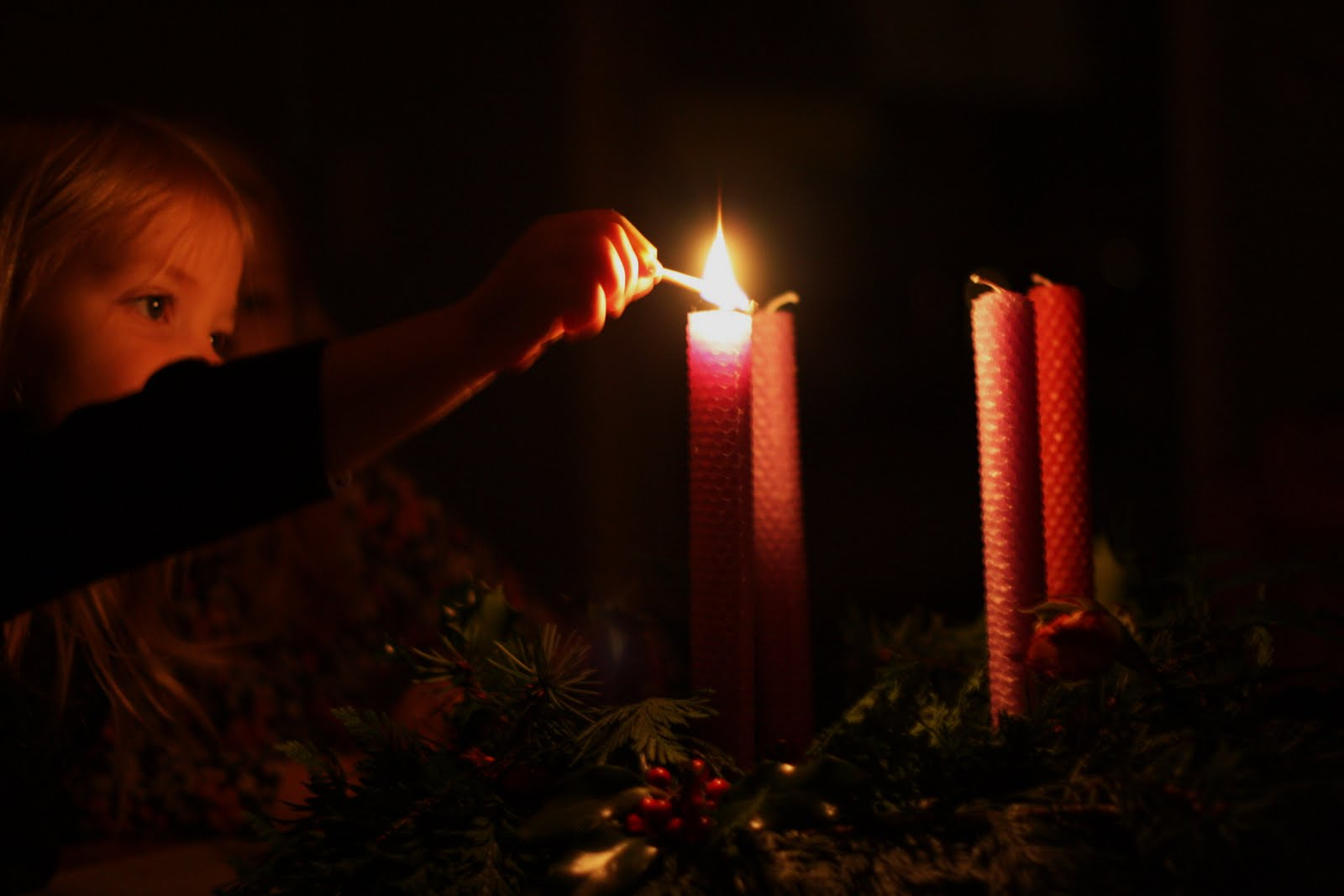 Frontier Dreams: Rhythm In Our Home : The First Sunday in ... One Advent Candle