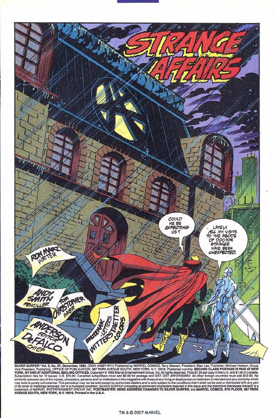 Read online Silver Surfer (1987) comic -  Issue #87 - 3