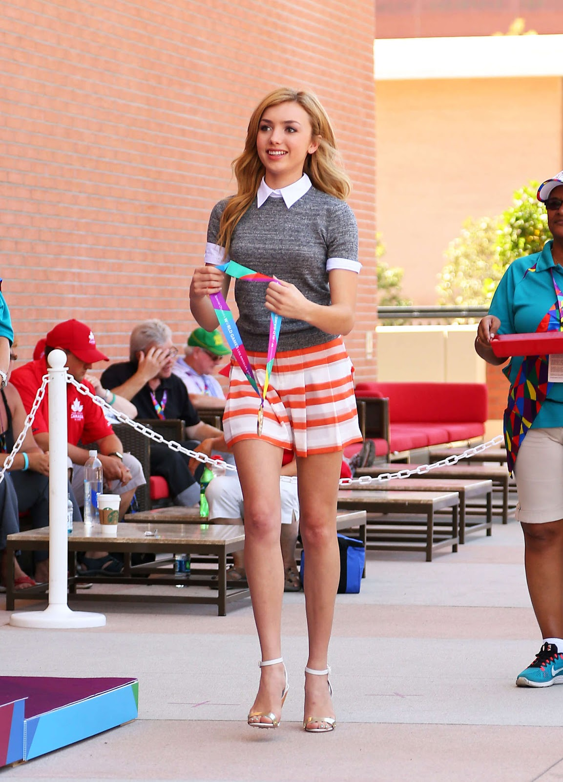 International Celebrities Peyton R List Special Olympics Track And Field Medal Ceremony In La