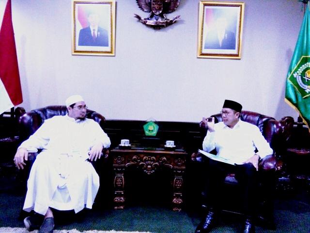 Menag dan Habib Jindan Sepakat, Gembleng Da'i dan Ustadz Soal Islam Moderat