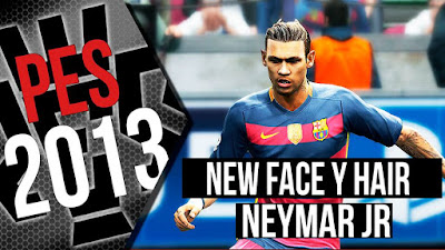 PES 2013 Neymar Jr face by SJR_11