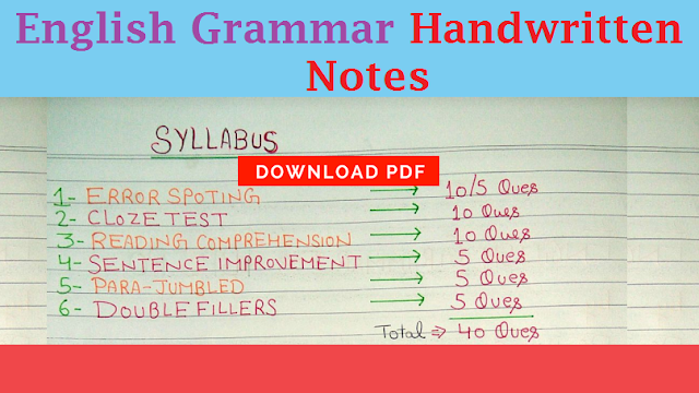 Grammar play an important role to crack any competitive exams