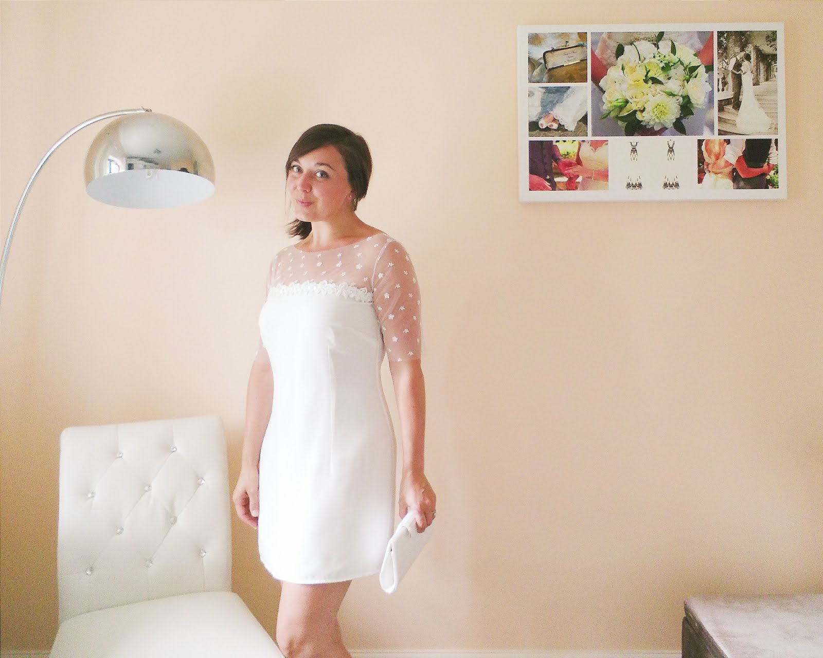 Sew your own short wedding or bridesmaid dress