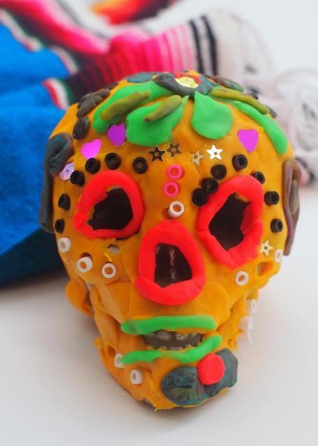 Dia de los Muertos Day of the dead sugar skull play doh kids activity craft