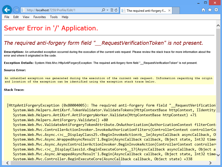 Best way to prevent Cross Site Request Forgery Attacks in MVC 4