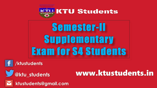 S2 supply for s4 students ktu 2015 admission