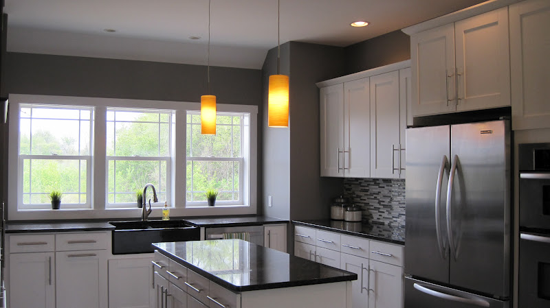 gray kitchen walls with white cabinets i married a tree hugger modern craftsman kitchen 16021