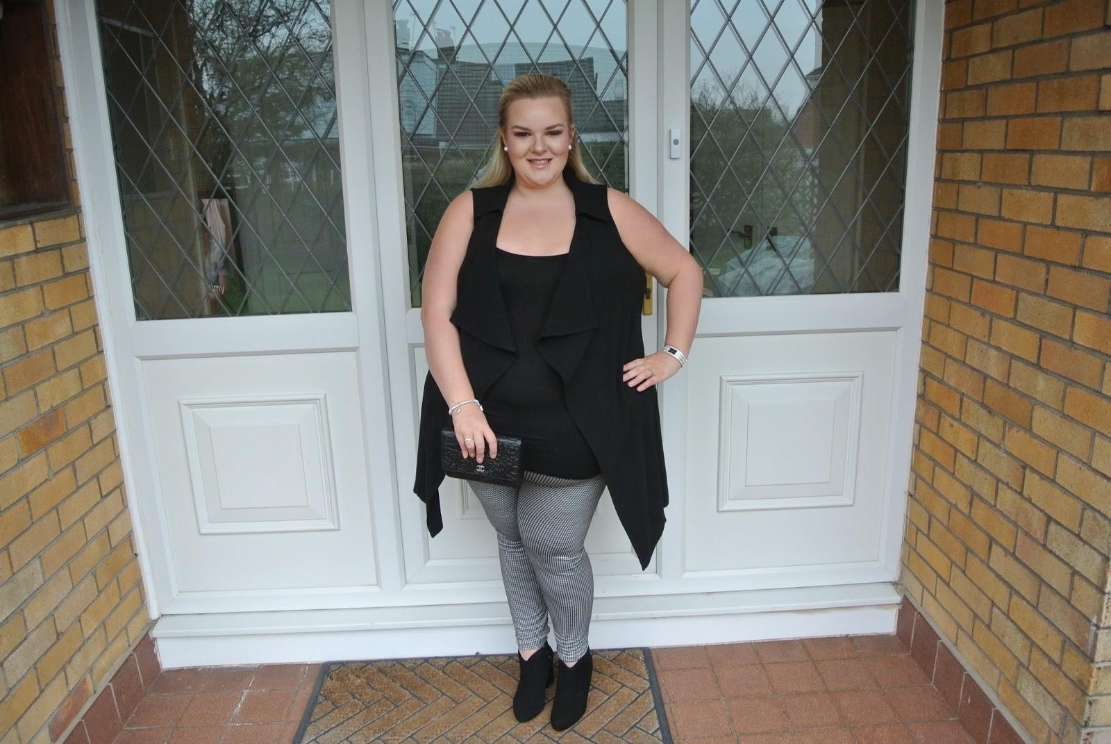 Scarlett and Jo Houndstooth Leggings Inspiring Plus Size Body Confidence