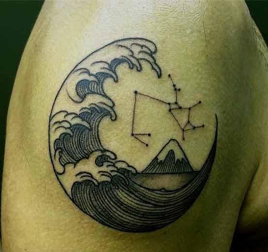 Sagittarius man tattoo