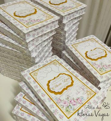 convite de aniversário infantil personalizado artesanal caixa livro jardim encantado floral vintage provençal rosa rosê lilás dourado princesa luxo sofisticado diferente