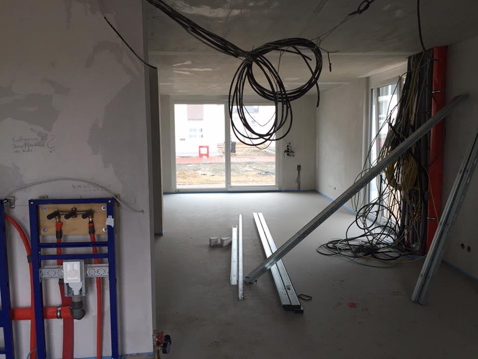 reihenhaus von werner wohnbau in bickenbach news der estrich ist begehbar. Black Bedroom Furniture Sets. Home Design Ideas
