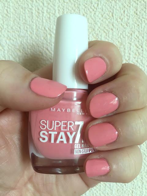 NOTD - Maybelline Superstay 7 Days Gel Polish in Rose Rapture