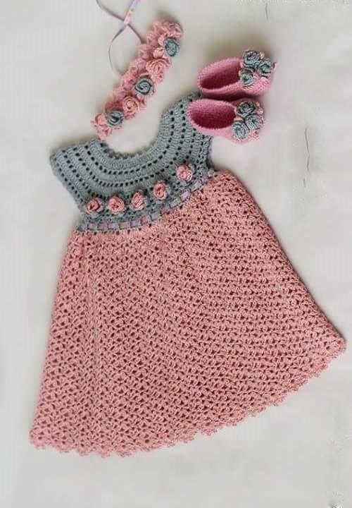 ❤ ✿ Mi Rincón del Tejido ✿ ❤: Vestido para niña con grafico