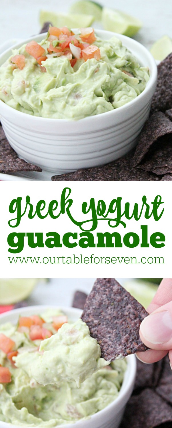 Greek Yogurt Guacamole from Table for Seven