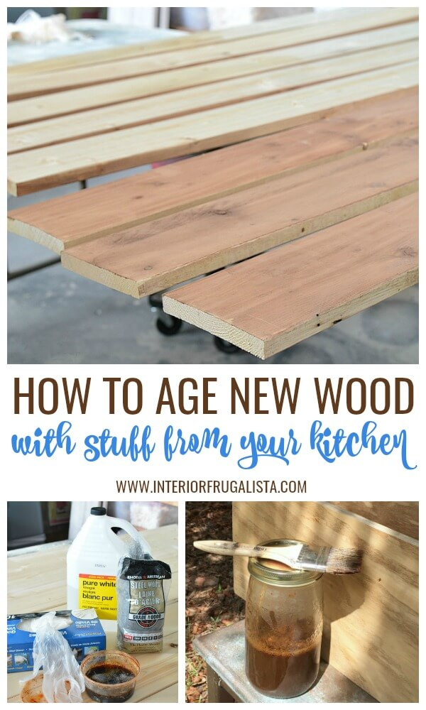 How To Age New Wood With Pantry Goods