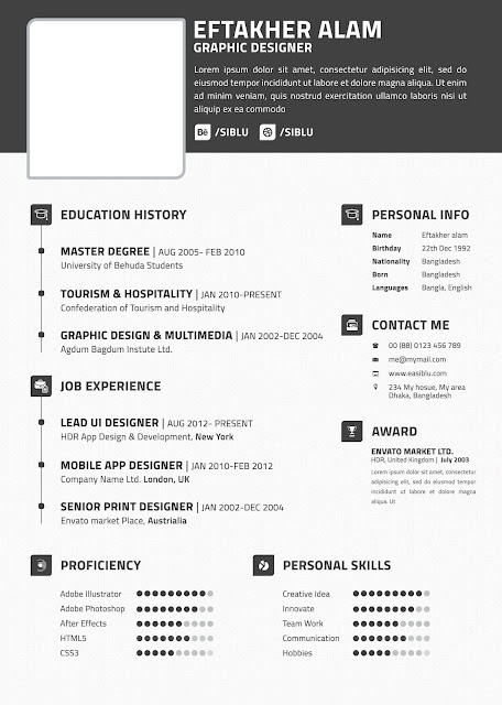how to write a curriculum vitae cvfor a job how to write a cv format psd - Modern Resume Template Free Download