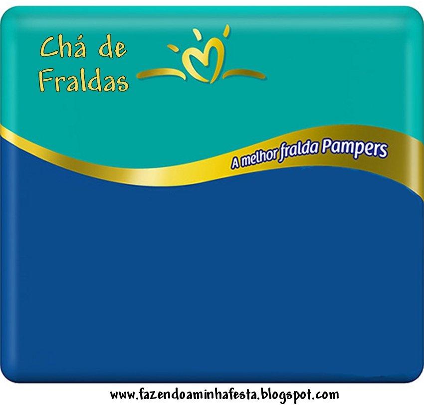 Convite Pampers Para Cha De Fraldas