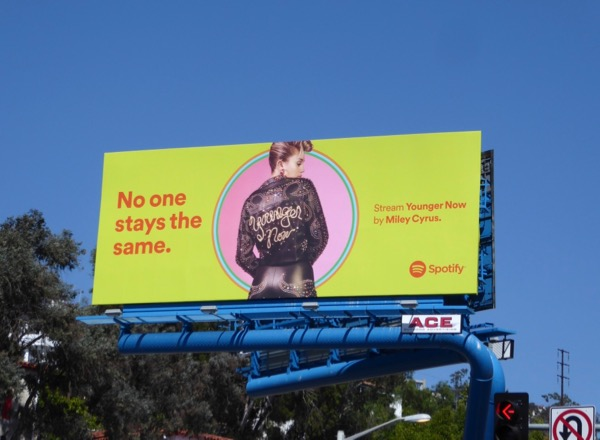 Miley Cyrus Younger Now Spotify billboard