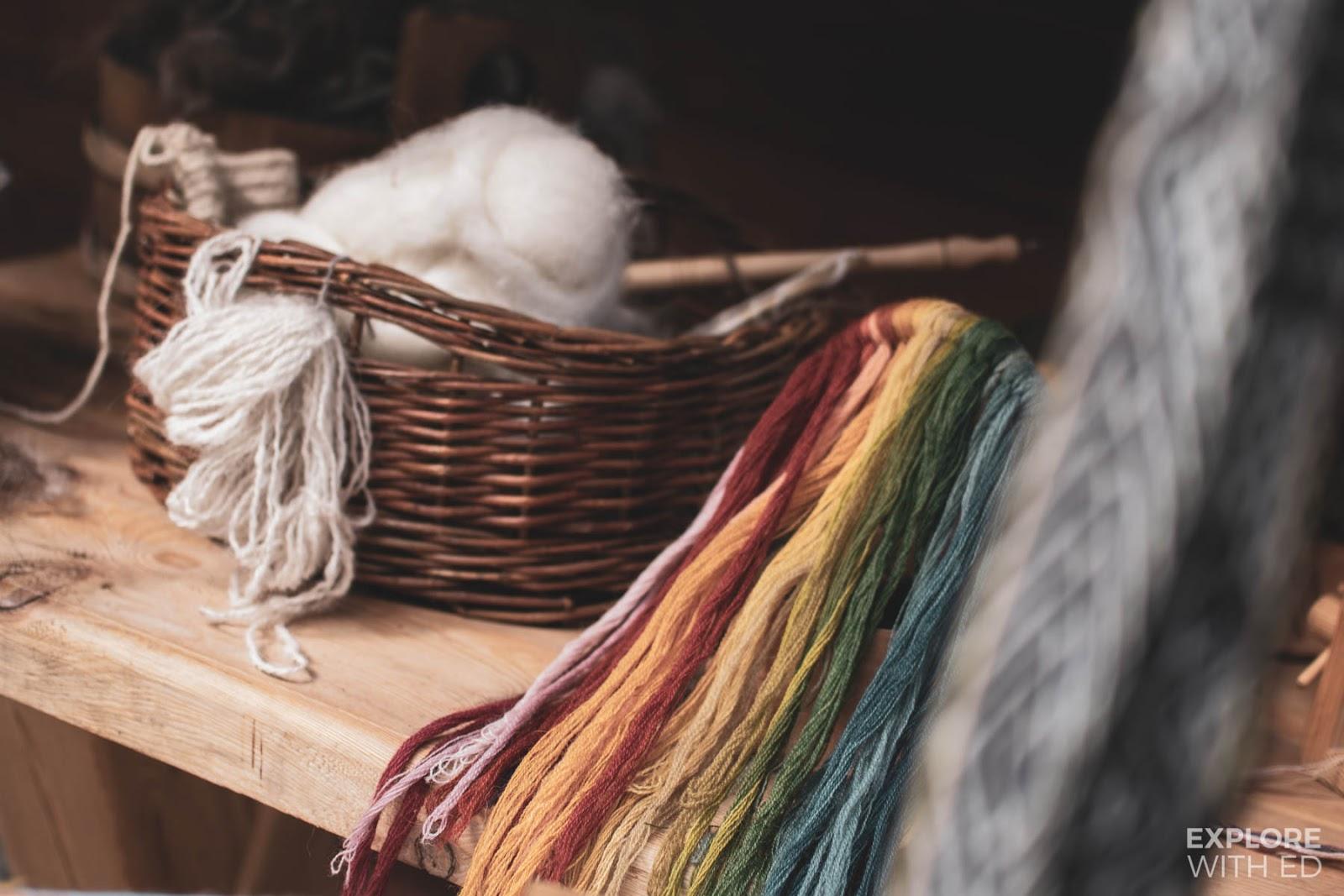 Textiles, clothing made in Njardarheimr Viking Valley