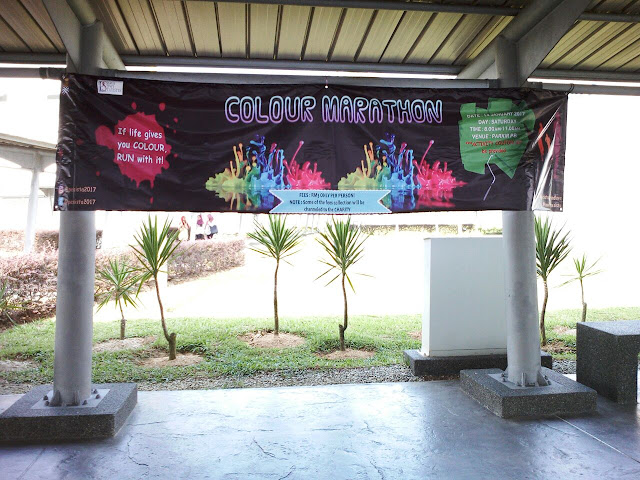 Colour marathon with pesista