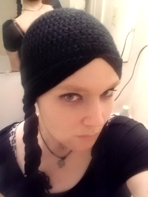 Wednesday Addams Cosplay Hat -- Free Crochet Pattern