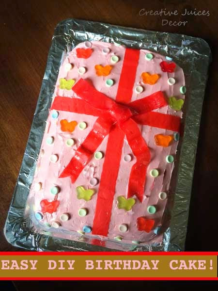 Easy Do It Yourself Frosted Birthday Cake Ideas