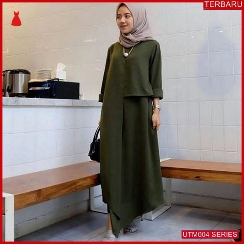 UTM004T47 Baju Ter Muslim Izah Dewasa Dress UTM004T47 004 | Terbaru BMGShop
