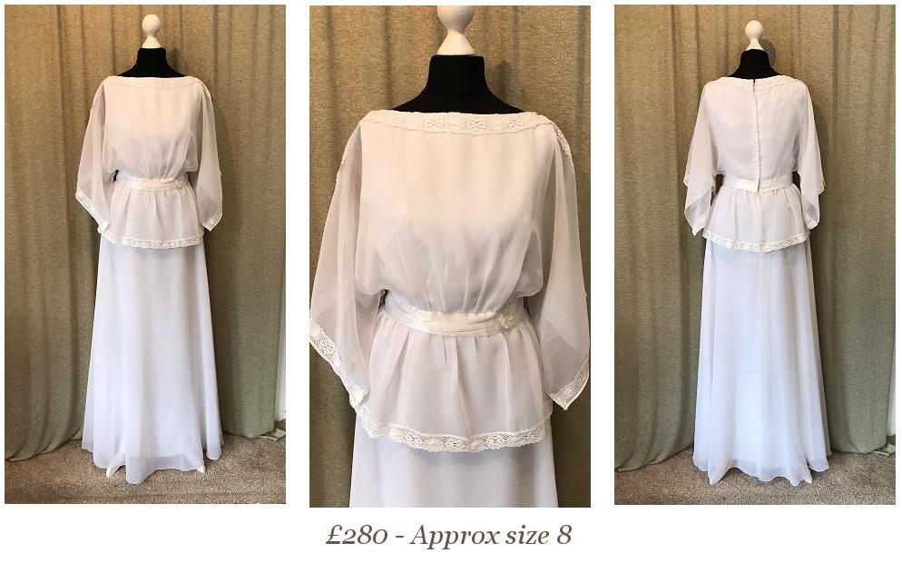 1970s Boho Wedding Dress