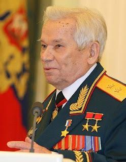 Mikhail Kalashnikov few weeks before his death during a high-profile speech