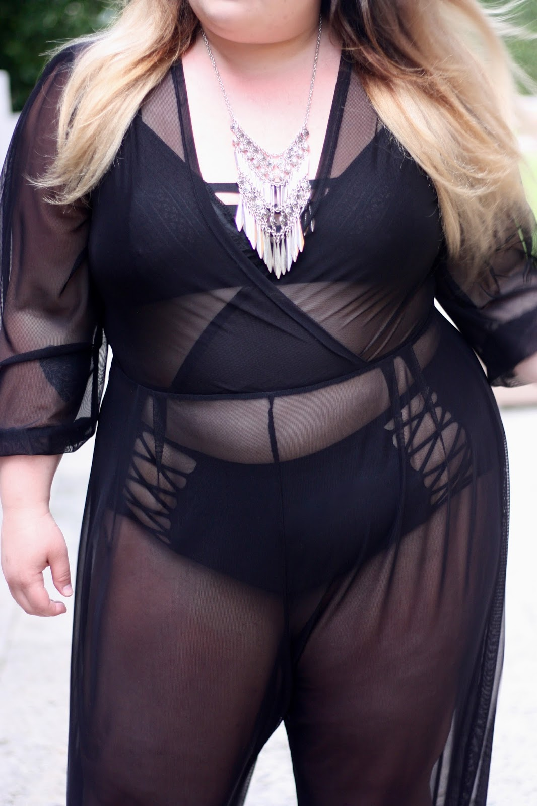 rue 107, rue107, natalie craig, natalie in the city, minnie jumpsuit, see through jumpsuit, mesh jumpsuit, plus size fashion, plus size fashion for women, miami, royal palm south beach, fatshion, curves and confidence, plus size swim cover ups, things to do in miami, collins ave, plus size, plus size swimwear