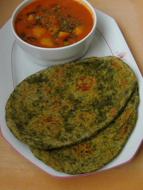 Spinach Naan, Palak Naan