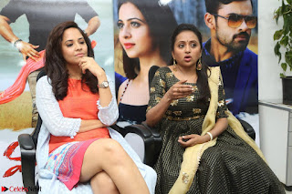 Actress Suma in Black Salwar Suit and Anusuya in orange Dress at winner movie press meet part 2 February 2017 (25).JPG