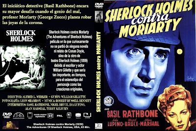Carátula: Sherlock Holmes contra Moriarty / The Adventures of Sherlock Holmes / Película / Descargar
