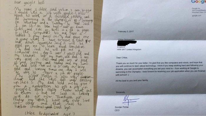Bocah Ini Mengirim Surat ke Google, Isinya Mengharukan