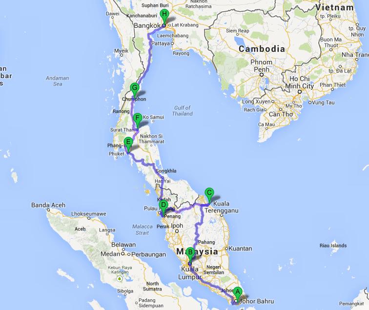 Liburan Ala Backpacker Rute Jakarta Singapura Kuala Lumpur Malaysia Hatyai Bangkok Thailand