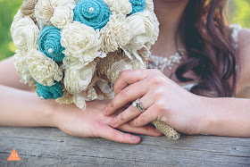 jade / light turquoise bridal bouquet