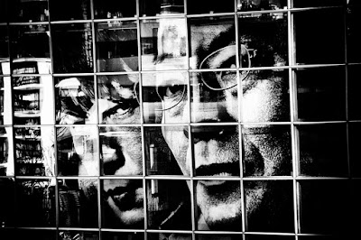 photography, black and white, contrast, window, faces, close-up
