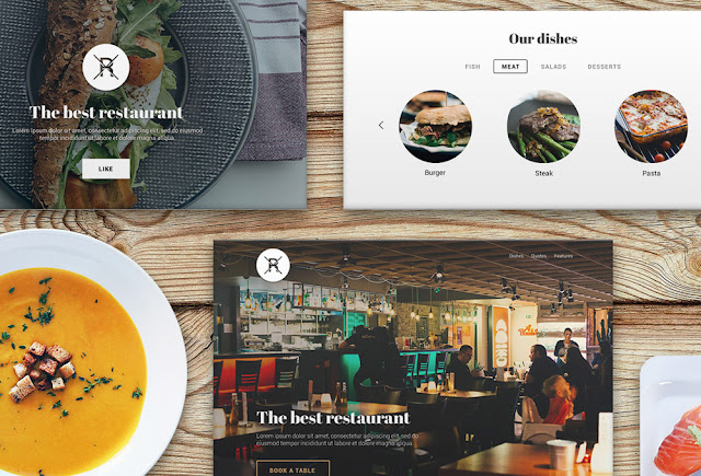Genial Kit PSD para interfaz de restaurante