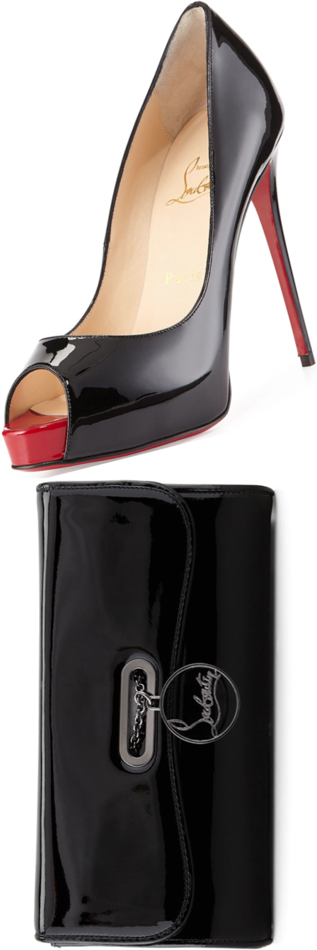 Christian Louboutin clutch and pumps