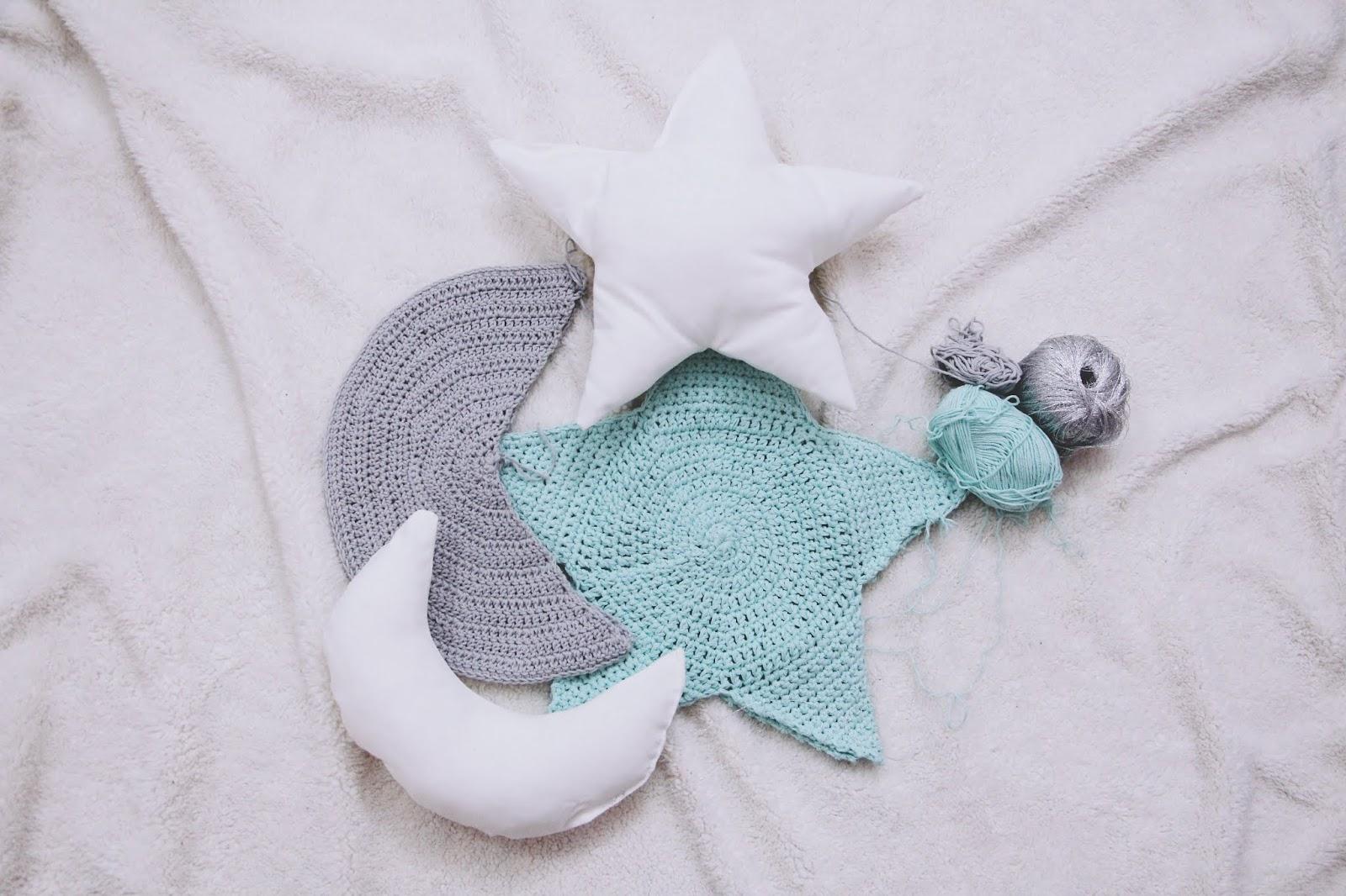 cojin estrella crochet patrón