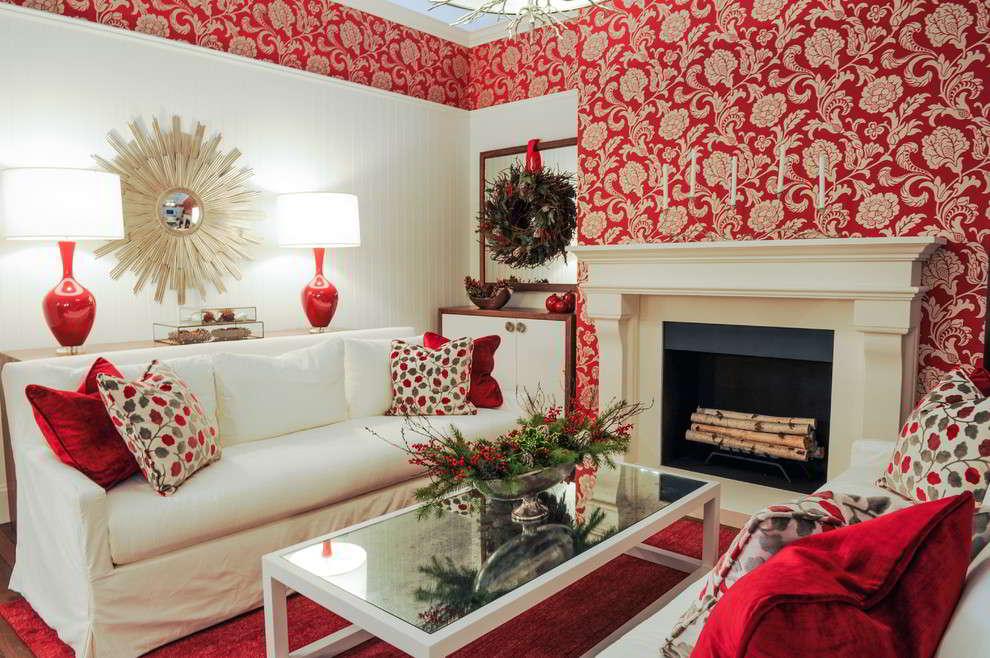 Memberi Wallpaper Dinding Tidak Semudah Memilih Cat Akan Tetapi Hal Perlu Dipikirakan Adalah Dekorasi Ruangan Pada Ruang Tamu Dengan